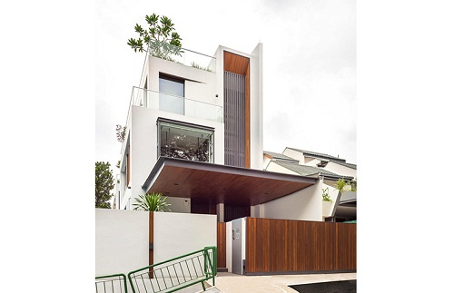 Thiết kế nội thất nhà phố nỗi bật khi sử dụng gỗ làm chủ đạo