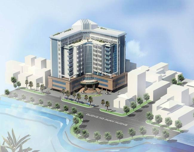 Thiết kế khách sạn hình chữ L hiện đại