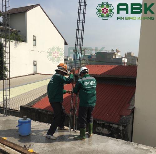 Công trình xây dựng cải tạo nâng tầng cho nhà anh Tuấn ở Lườn Lài