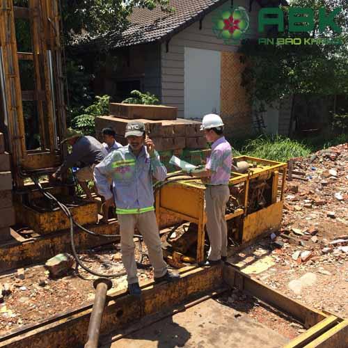 Công trình xây dựng nhà 4 tầng của anh Toản Quận 12