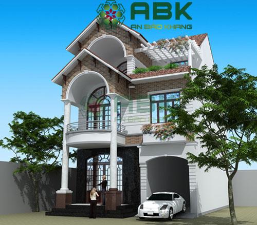Mẫu thiết kế biệt thự siêu đẹp ở quận Bình Chánh của anh Thới