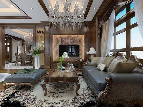 Thiết kế nội thất biệt thự mang phong cách tân cổ điển