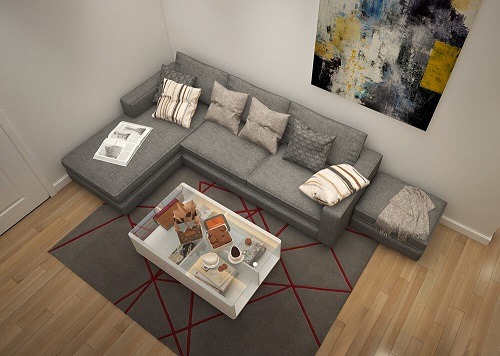 Với diện tích 94m2 căn hộ nôi thất được thiết kế thao phong cách hiện đại