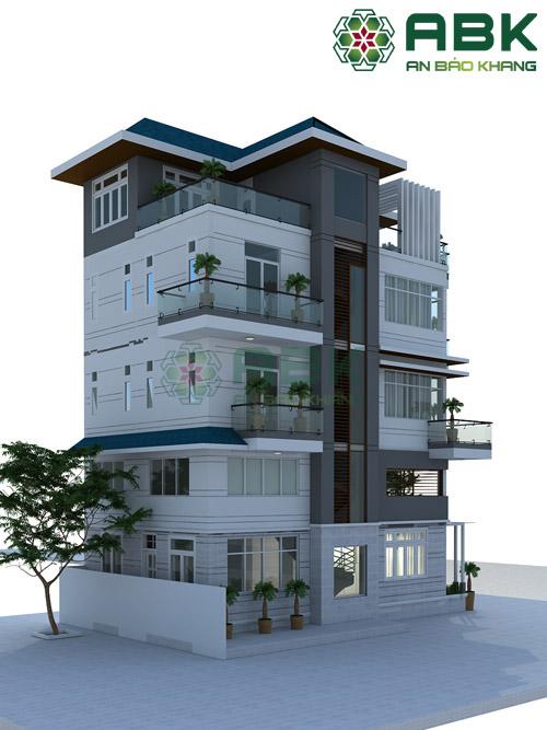 Mẫu thiết kế nhà phố 5 tầng cực kỳ đẹp M01
