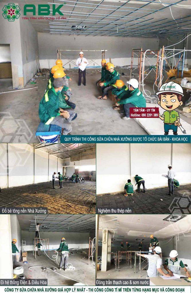Chi phí đổ bê tông nâng nền nhà xưởng