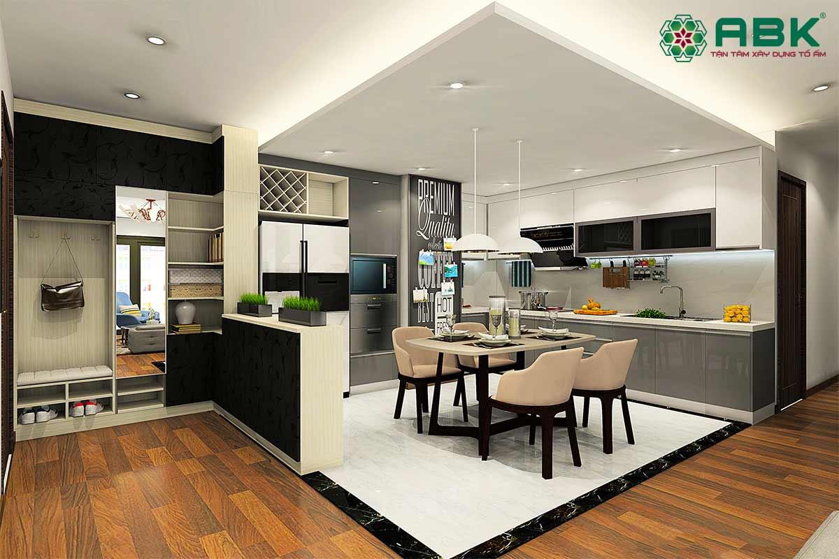 Lưu ý khi thiết kế nội thất phòng bếp nhà ống